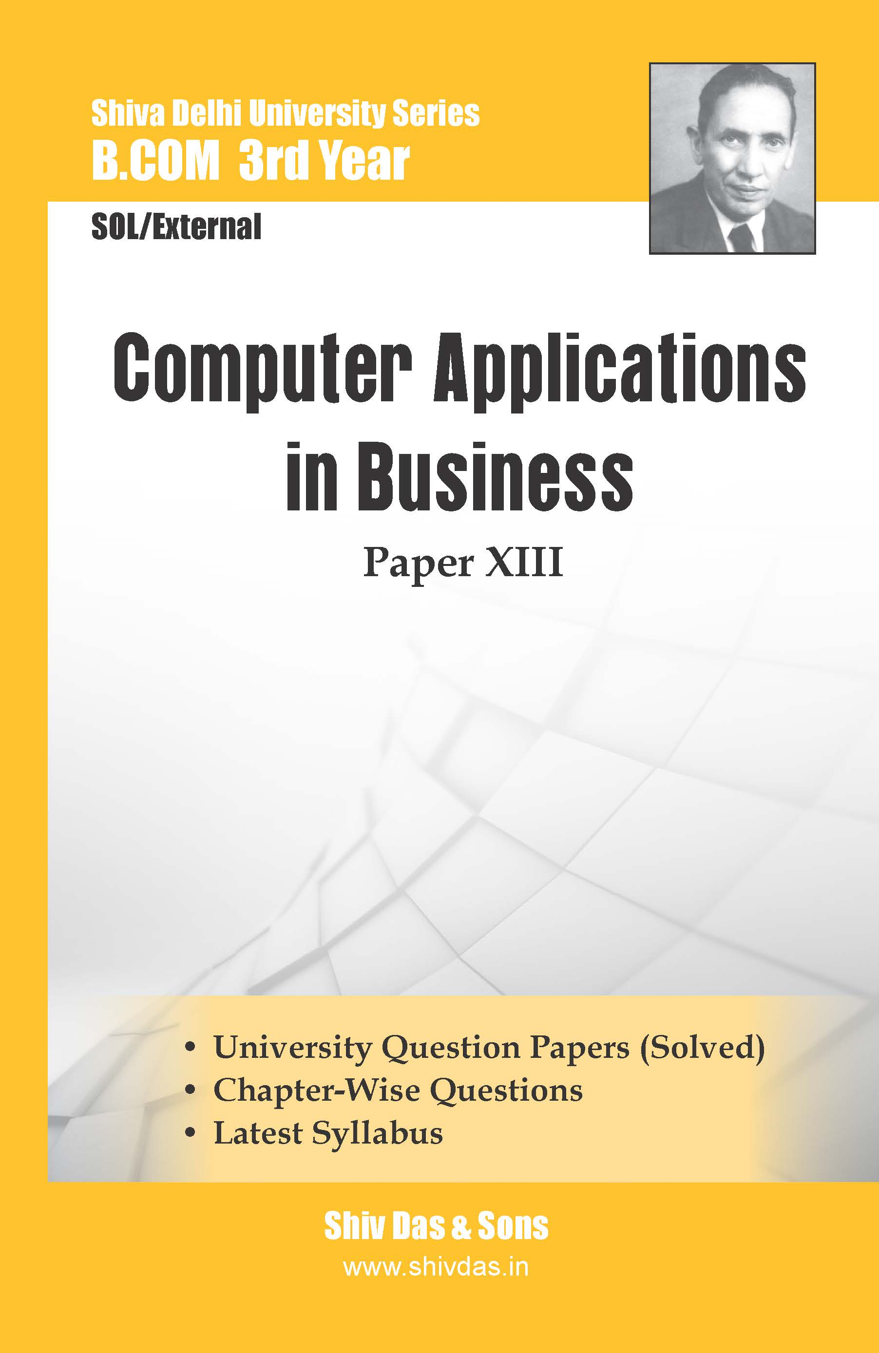 B.Com-3rd Year-SOL/External-Computer Applications in Business-Shiv Das-Delhi University Series